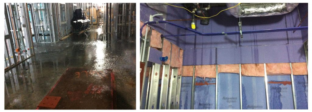 Water infiltration healthcare facility