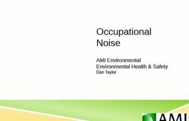Occupational Noise PowerPoint Presentation